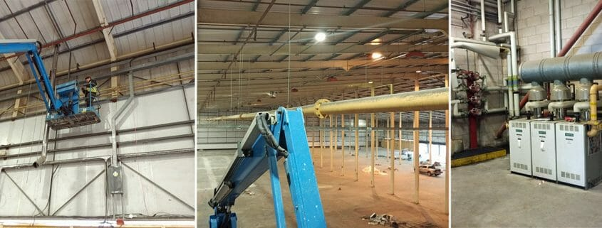 Warehouse Pipework removal